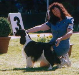 Sabrina and Margaret win Intermediate Bitch Class Melbourne Royal 2002